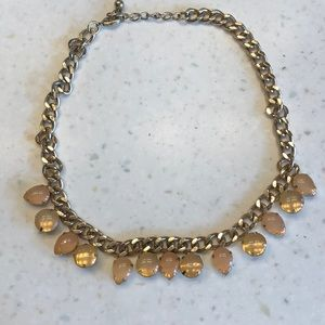Light pink gold statement necklace